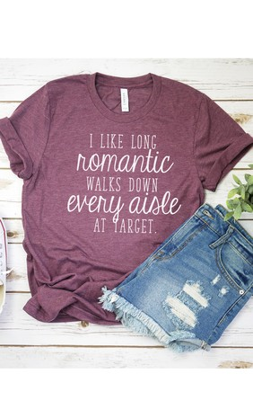 Kissed Apparel Heather Maroon Target Graphic T-shirt