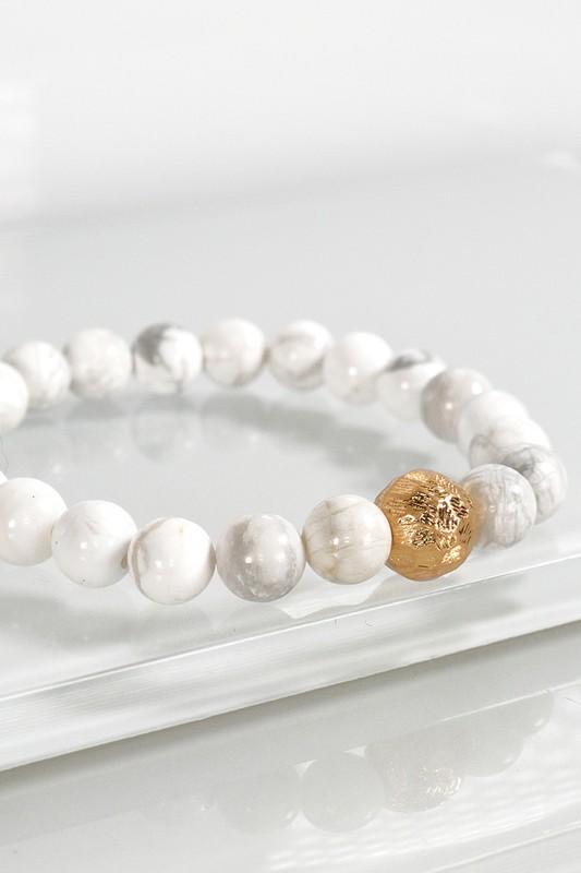 Urbanista Stone Stretch Bracelet Howlite White