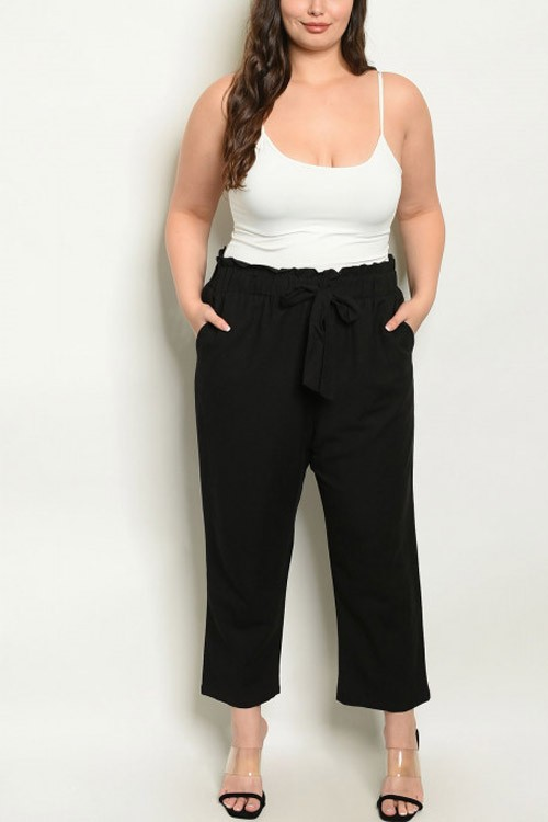 Plus Size Black Everyday Pants