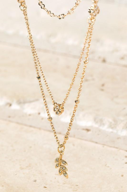 Urbanista Gold Leaf Charm Necklace