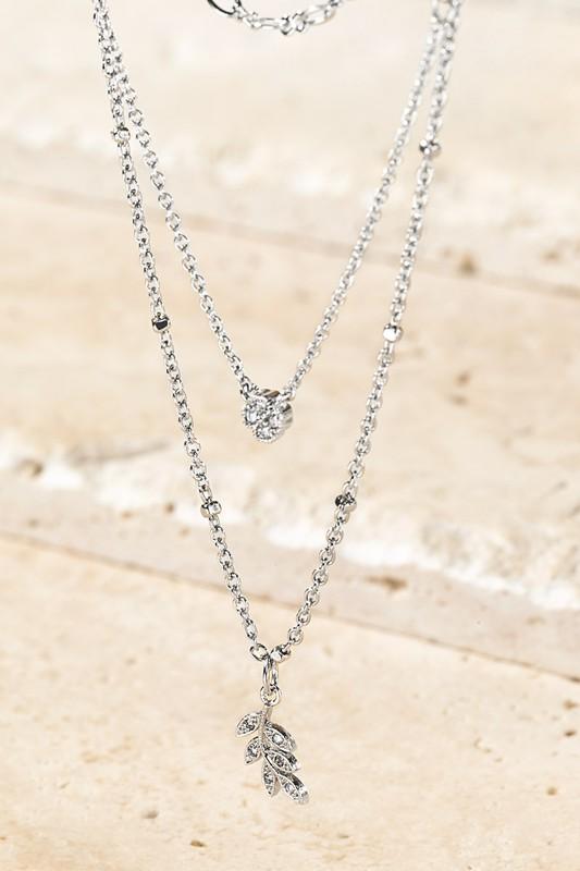 Urbanista Silver Leaf Charm Necklace