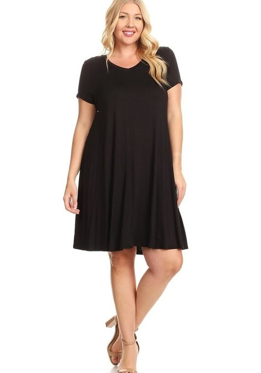 Bagel Plus Size Dress Black